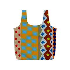 Abstract A Colorful Modern Illustration Full Print Recycle Bags (s)