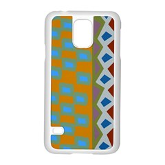 Abstract A Colorful Modern Illustration Samsung Galaxy S5 Case (white) by Simbadda