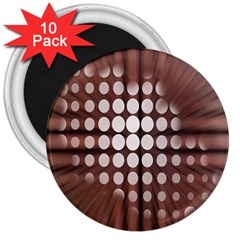 Technical Background With Circles And A Burst Of Color 3  Magnets (10 Pack)
