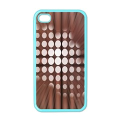 Technical Background With Circles And A Burst Of Color Apple Iphone 4 Case (color) by Simbadda