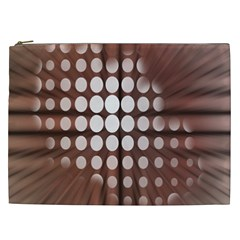 Technical Background With Circles And A Burst Of Color Cosmetic Bag (xxl)