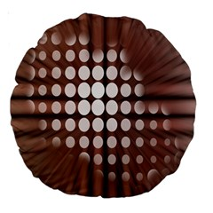 Technical Background With Circles And A Burst Of Color Large 18  Premium Round Cushions by Simbadda