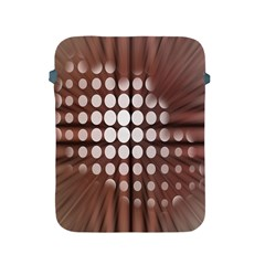 Technical Background With Circles And A Burst Of Color Apple Ipad 2/3/4 Protective Soft Cases by Simbadda