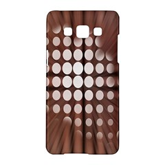 Technical Background With Circles And A Burst Of Color Samsung Galaxy A5 Hardshell Case  by Simbadda