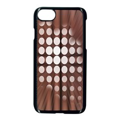 Technical Background With Circles And A Burst Of Color Apple Iphone 7 Seamless Case (black) by Simbadda