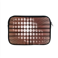 Technical Background With Circles And A Burst Of Color Apple Macbook Pro 15  Zipper Case by Simbadda