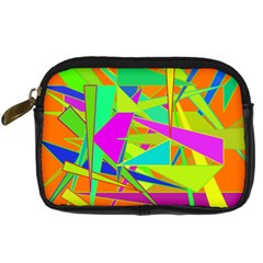 Background With Colorful Triangles Digital Camera Cases by Simbadda
