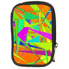 Background With Colorful Triangles Compact Camera Cases by Simbadda