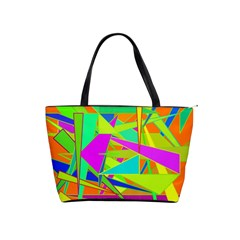 Background With Colorful Triangles Shoulder Handbags by Simbadda