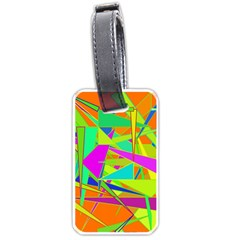 Background With Colorful Triangles Luggage Tags (two Sides) by Simbadda