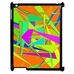 Background With Colorful Triangles Apple Ipad 2 Case (black) by Simbadda