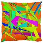 Background With Colorful Triangles Large Cushion Case (One Side) Front