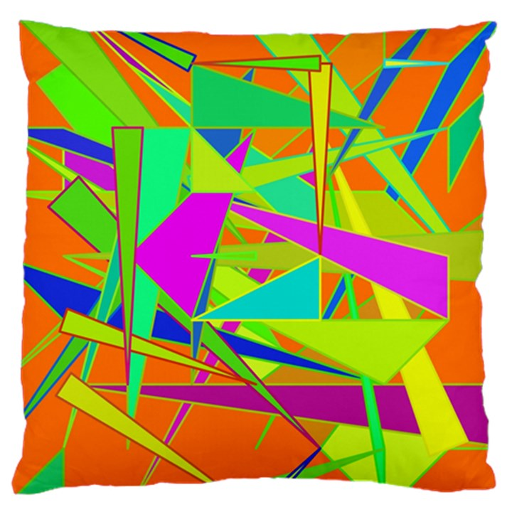 Background With Colorful Triangles Large Cushion Case (One Side)
