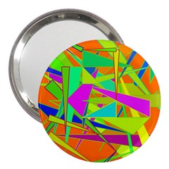 Background With Colorful Triangles 3  Handbag Mirrors by Simbadda