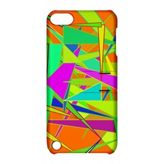 Background With Colorful Triangles Apple Ipod Touch 5 Hardshell Case With Stand by Simbadda