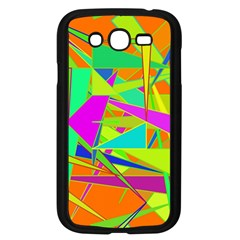 Background With Colorful Triangles Samsung Galaxy Grand Duos I9082 Case (black) by Simbadda