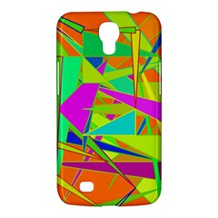 Background With Colorful Triangles Samsung Galaxy Mega 6 3  I9200 Hardshell Case by Simbadda