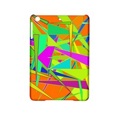 Background With Colorful Triangles Ipad Mini 2 Hardshell Cases by Simbadda