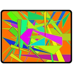 Background With Colorful Triangles Double Sided Fleece Blanket (large)