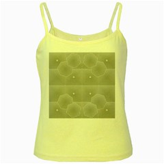 Grid Squares And Rectangles Mirror Images Colors Yellow Spaghetti Tank