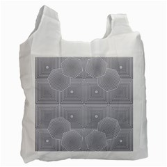 Grid Squares And Rectangles Mirror Images Colors Recycle Bag (two Side)  by Simbadda