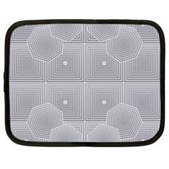 Grid Squares And Rectangles Mirror Images Colors Netbook Case (xl)  by Simbadda