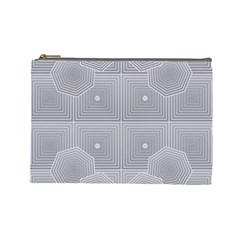 Grid Squares And Rectangles Mirror Images Colors Cosmetic Bag (large)  by Simbadda