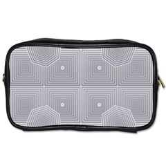 Grid Squares And Rectangles Mirror Images Colors Toiletries Bags by Simbadda