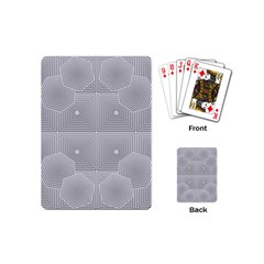 Grid Squares And Rectangles Mirror Images Colors Playing Cards (mini)  by Simbadda