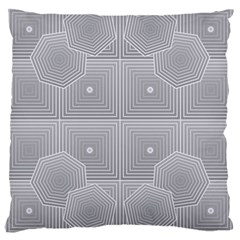 Grid Squares And Rectangles Mirror Images Colors Large Cushion Case (one Side) by Simbadda