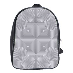 Grid Squares And Rectangles Mirror Images Colors School Bags (xl)  by Simbadda