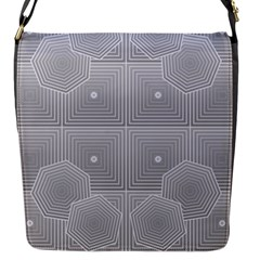 Grid Squares And Rectangles Mirror Images Colors Flap Messenger Bag (s) by Simbadda