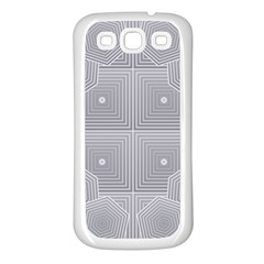Grid Squares And Rectangles Mirror Images Colors Samsung Galaxy S3 Back Case (white) by Simbadda