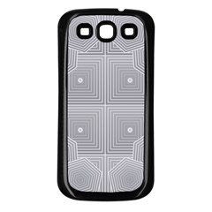 Grid Squares And Rectangles Mirror Images Colors Samsung Galaxy S3 Back Case (black) by Simbadda