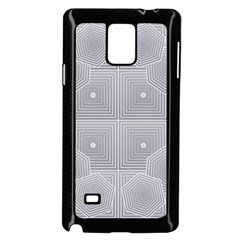 Grid Squares And Rectangles Mirror Images Colors Samsung Galaxy Note 4 Case (black)