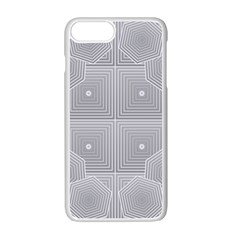 Grid Squares And Rectangles Mirror Images Colors Apple Iphone 7 Plus White Seamless Case by Simbadda