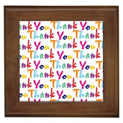 Wallpaper With The Words Thank You In Colorful Letters Framed Tiles by Simbadda