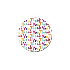 Wallpaper With The Words Thank You In Colorful Letters Golf Ball Marker (4 Pack) by Simbadda