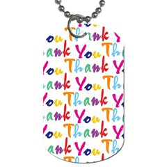 Wallpaper With The Words Thank You In Colorful Letters Dog Tag (two Sides) by Simbadda