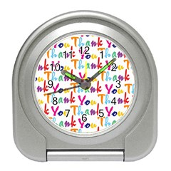 Wallpaper With The Words Thank You In Colorful Letters Travel Alarm Clocks by Simbadda