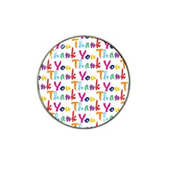 Wallpaper With The Words Thank You In Colorful Letters Hat Clip Ball Marker (10 Pack)