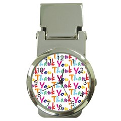 Wallpaper With The Words Thank You In Colorful Letters Money Clip Watches by Simbadda