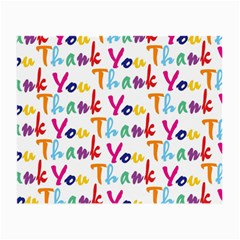 Wallpaper With The Words Thank You In Colorful Letters Small Glasses Cloth (2-side) by Simbadda
