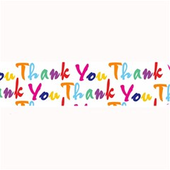 Wallpaper With The Words Thank You In Colorful Letters Large Bar Mats by Simbadda