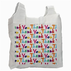 Wallpaper With The Words Thank You In Colorful Letters Recycle Bag (one Side)