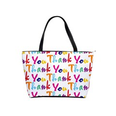 Wallpaper With The Words Thank You In Colorful Letters Shoulder Handbags by Simbadda