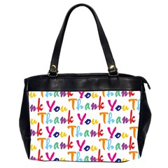Wallpaper With The Words Thank You In Colorful Letters Office Handbags (2 Sides)