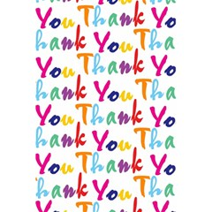 Wallpaper With The Words Thank You In Colorful Letters 5 5  X 8 5  Notebooks by Simbadda