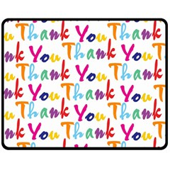 Wallpaper With The Words Thank You In Colorful Letters Fleece Blanket (medium)  by Simbadda