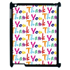 Wallpaper With The Words Thank You In Colorful Letters Apple Ipad 2 Case (black) by Simbadda